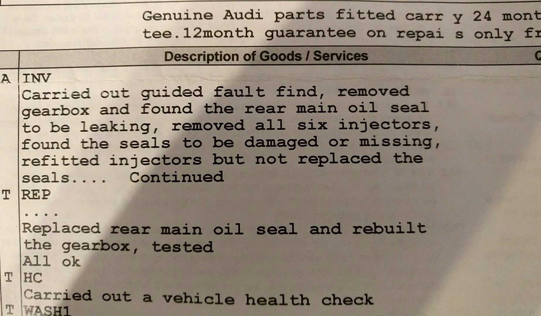 3 0 TDI - Oil Leak | Audi-Sport net